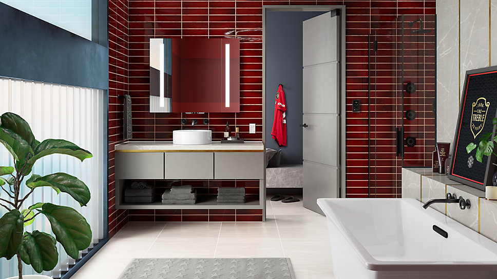 A Manchester United-Inspired Bathroom