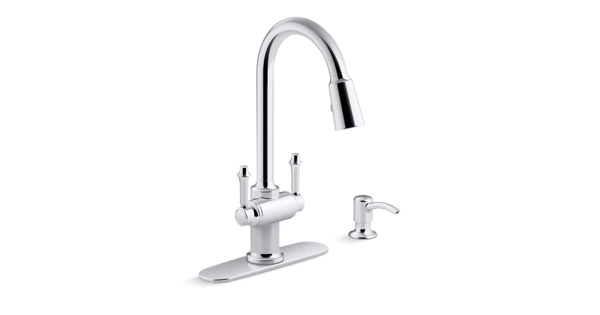 K R22869 Sd Thierry 2 Handle Pull Down Kitchen Faucet Kohler