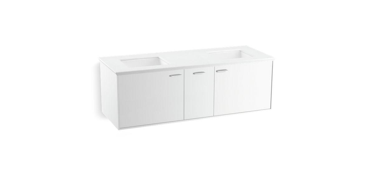K 99548 Jute 60 Inch Vanity With 2 Doors 1 Drawer Kohler